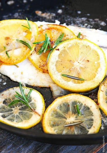Tilapia with Browned Butter and Lemon Sauce makes a delicious, quick-fix meal for lunch or supper. Ready in 12 minutes or less.