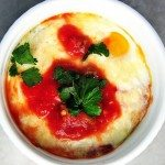 Baked Eggs with Salsa Recipe