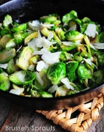 Brussels sprouts are a welcome addition to the supper table with this recipe. Quick and ready in less than 20 minutes.