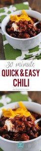 This Black Bean Chili recipe is perfect for a quick-fix weeknight supper. Ready in 30 minutes, this chili is full of ground beef, black beans, and tons of flavor! // addapinch.com
