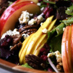Apple Pear Salad with Pomegranate Vinaigrette