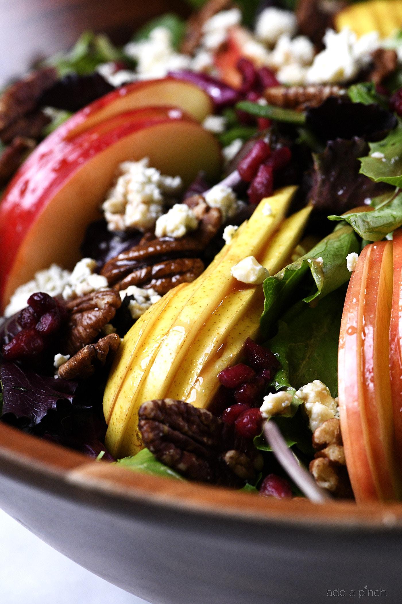 Apple Pear Salad With Pomegranate Vinaigrette