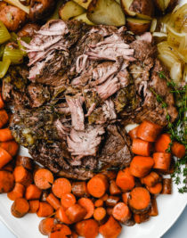 Classic Pot Roast is an easy comfort food that is an absolute favorite. A one pot meal made easy in the oven, slow cooker or Instant Pot! // addapinch.com