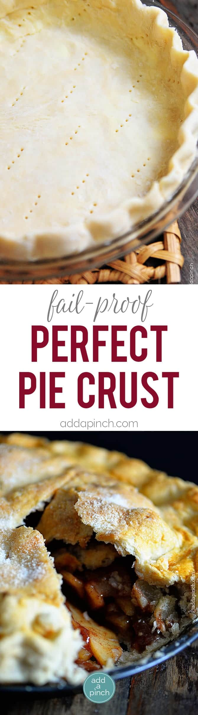 ... pies. This pie crust recipe is made by hand and makes a perfect pie