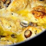 Chicken with Garlic and Mushroom Sauce Recipe