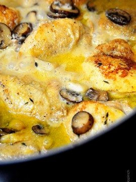 Chicken with Garlic and Mushroom Sauce Recipe