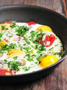 Tomato Baked Eggs Recipe