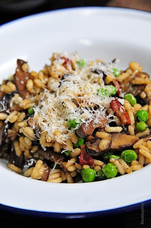Wild Mushroom Risotto With Peas Recipe — Dishmaps