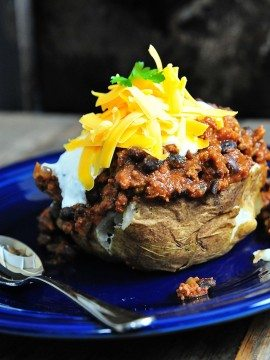 Chili Baked Potatoes Recipe