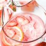 A delicious Strawberry Lemonade that's so easy and refreshing! Made from strawberries, lemons and simple syrup, it's perfect to enjoy all spring and summer! // addapinch.com
