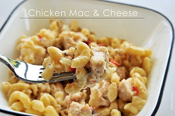 Chicken Mac And Cheese Recipe Cooking Add A Pinch