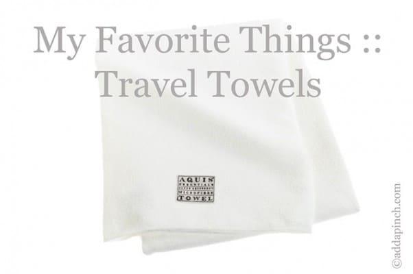 Travel Towels | ©addapinch.com