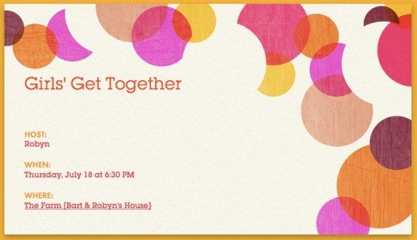 Hosting a Girls Get Together Add a Pinch – Get Together Party Invitation