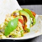 Egg and Avocado Breakfast Burrito