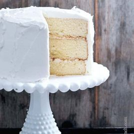White Cake Recipe // addapinch.com