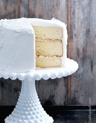 White Cake Recipe // addapinch.com