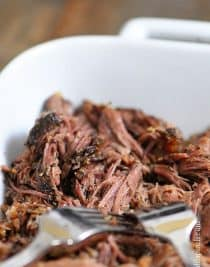 Slow Cooker Shredded Beef Recipe - Making Slow Cooker Shredded Beef to have on hand for recipes throughout the week has to be one of my favorite things ever. // addapinch.com