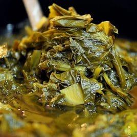 Slow Cooker Turnip Greens - addapinch.com