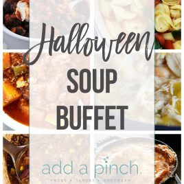Halloween Soup Buffet - Plan a fun, festive Halloween Soup Buffet with these great menu ideas and tips. Easy, elegant entertaining at its best. // addapinch.com