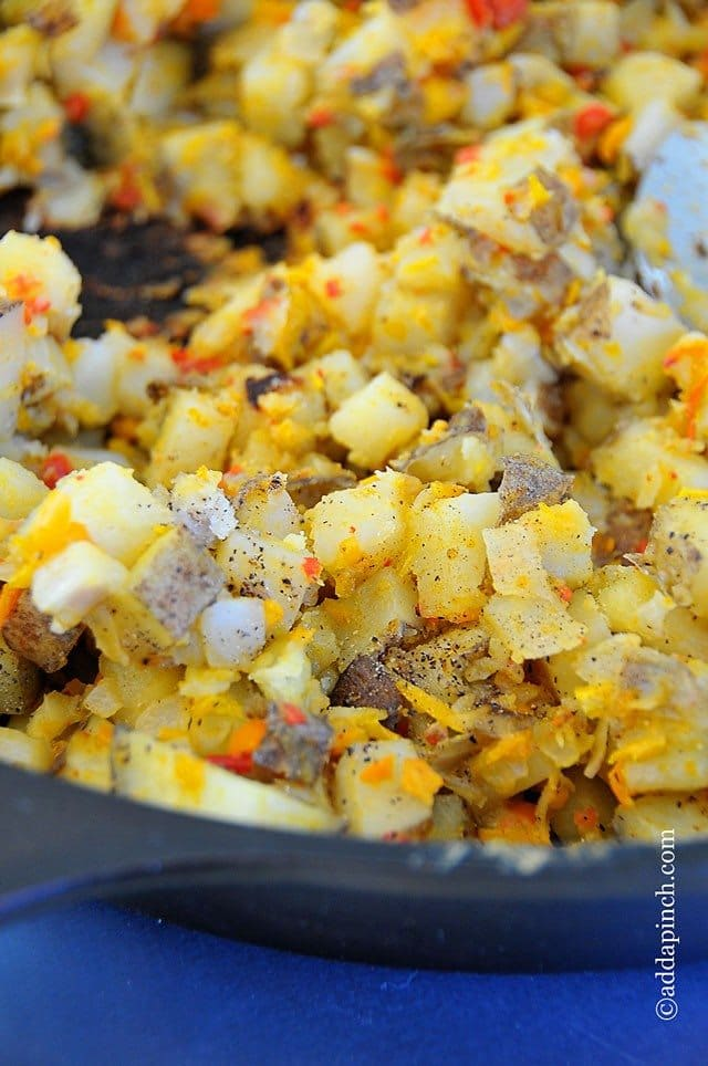 Breakfast Potatoes Recipe // addapinch.com