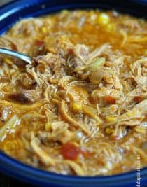 Brunswick Stew is an iconic dish here in the south. One that you just don't want to mess up when you make it. Folks know good Brunswick Stew when they see it and there's no messing around with something like that. // addapinch.com