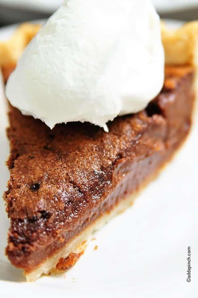 Chocolate Chess Pie Recipe - Add a Pinch