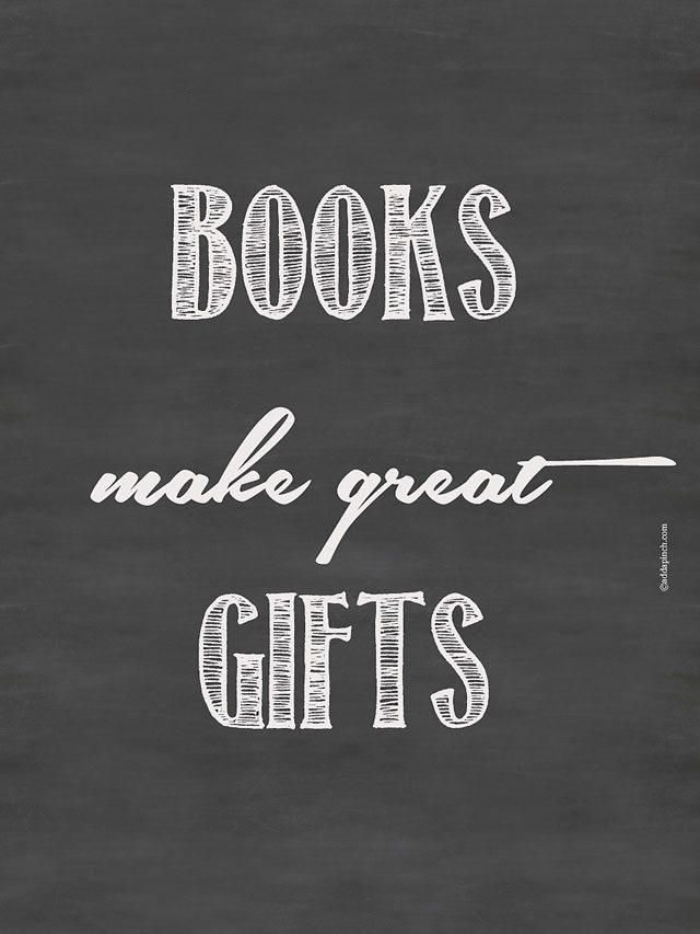 Books Make Great Gifts | ©addapinch.com