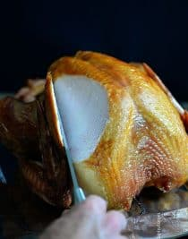 Smoked Turkey makes one of the easiest, most elegant turkey recipes. This simple smoked turkey recipe will definitely become a favorite. // addapinch.com