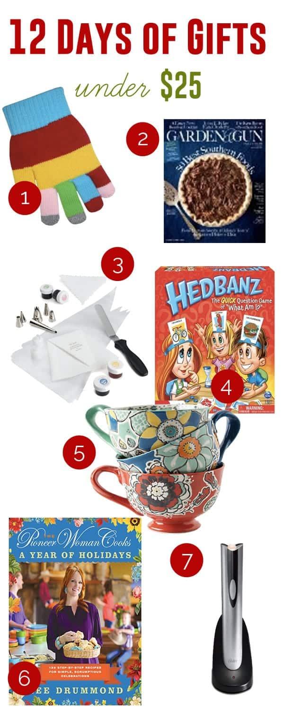 Gifts Under $25   ©addapinch.com