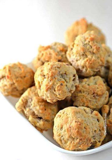 Sausage Balls Recipe // addapinch.com