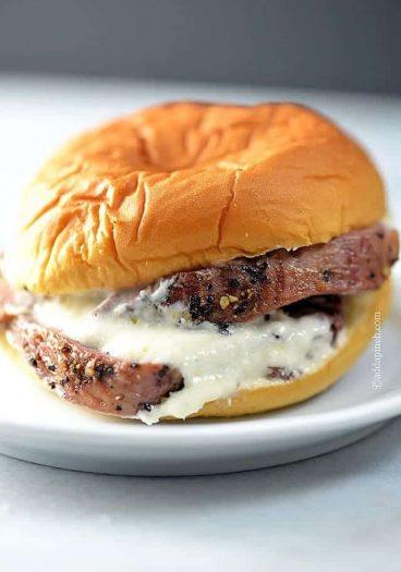 Beef Tenderloin Sliders Recipe | ©addapinch.com