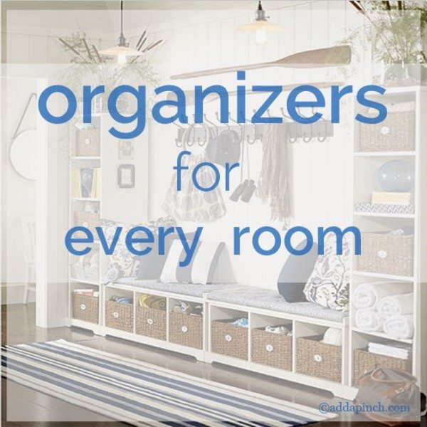 Organizers for every room | ©addapinch.com