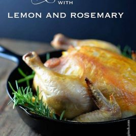 Roast Chicken with Lemon and Rosemary | ©addapinch.com