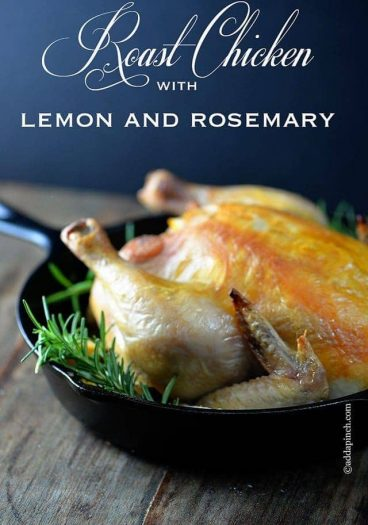 Roast Chicken with Lemon and Rosemary | ©addapinch.com