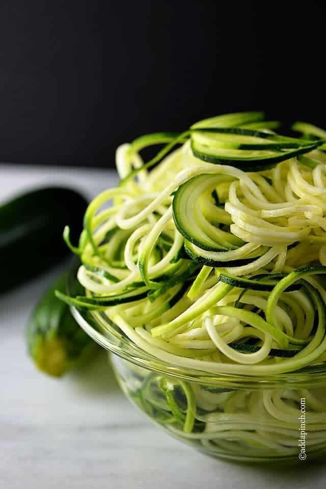 how to add zucchini to pasta