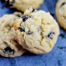 Soft Oatmeal Raisin Cookies Recipe | ©addapinch.com