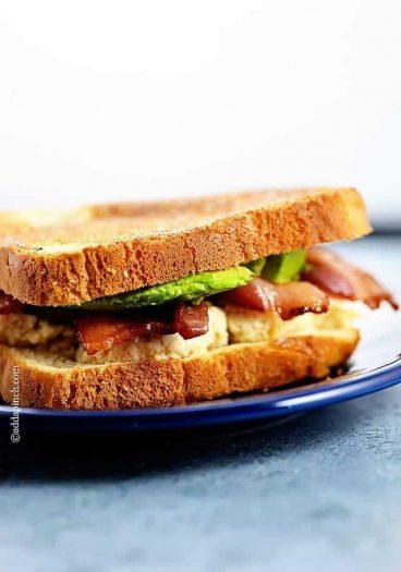 Chicken Salad Sandwich Recipe | ©addapinch.com