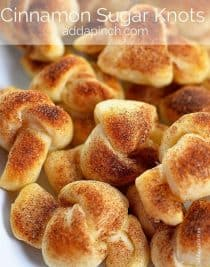 Cinnamon Sugar Knots Recipe | ©addapinch.com