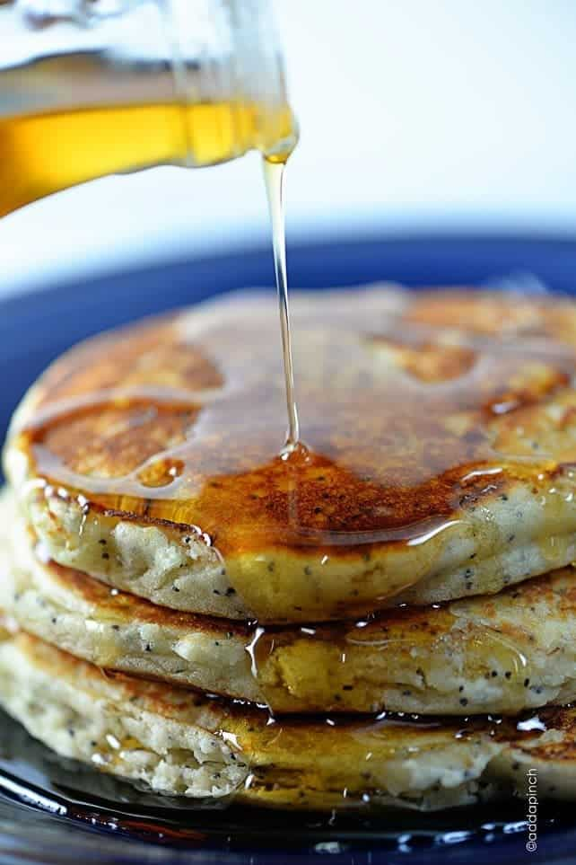 Lemon Poppy Seed Pancakes Recipe - Add a Pinch