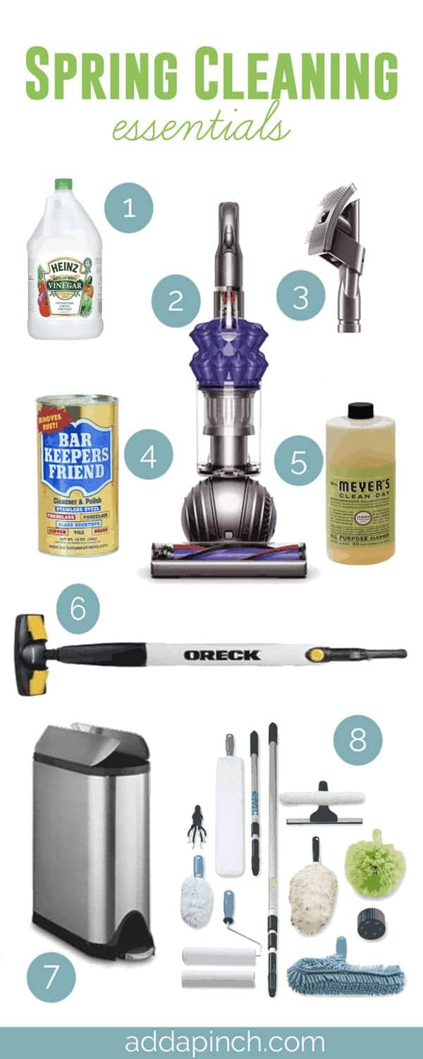 Spring Cleaning Essentials | ©addapinch.com