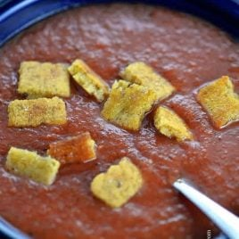 Tomato Basil Soup | ©addapinch.com