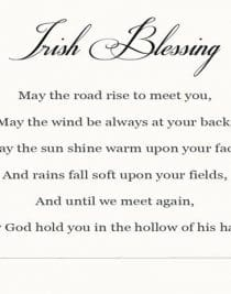 Irish Blessing Printable | ©addapinch.com