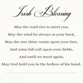Irish Blessing Printable | ©addapinch.com