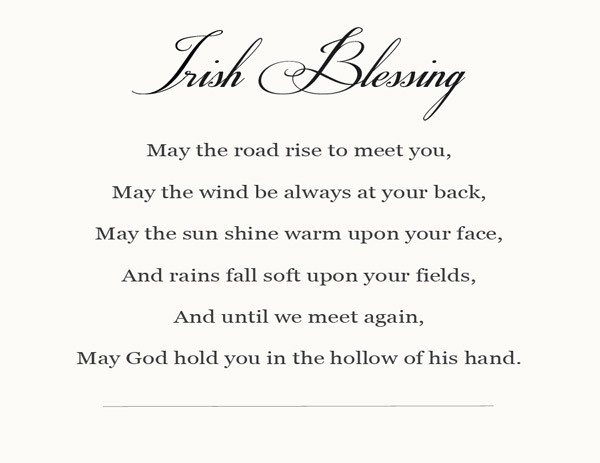 picture regarding Printable Irish Blessing known as Irish Blessing - Insert a Pinch