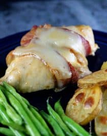 Bacon Wrapped Chicken Recipe | ©addapinch.com