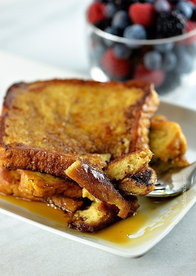 French Toast Recipe | addapinch.com