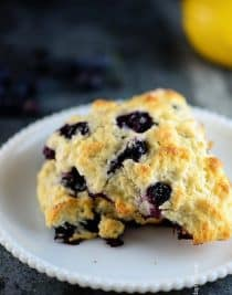 Lemon Blueberry Scones Recipe | ©addapinch.com