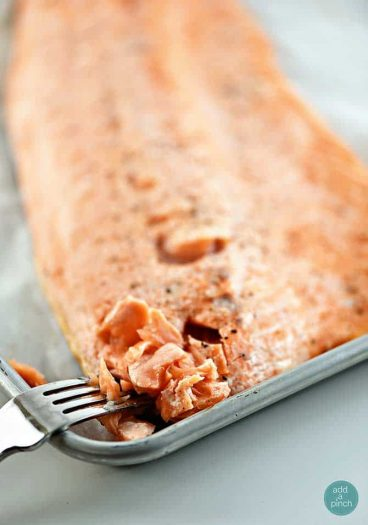 Baked Salmon Recipe from addapinch.com