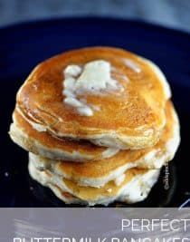 Perfect Buttermilk Pancakes Recipe | ©addapinch.com