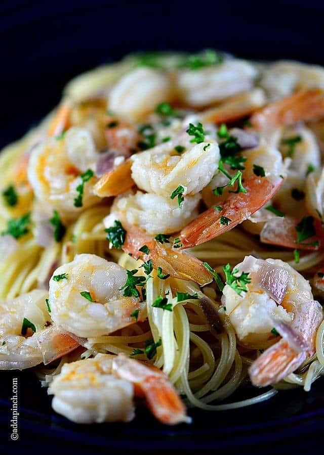 Shrimp Scampi | ©addapinch.com